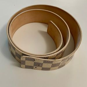 """LOUIS VUITTON"" Damier Azur Replacement Belt 85 cm"